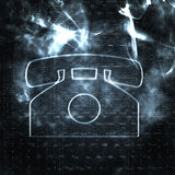 Abstract phone. Illustration of old style phone in the smoke Stock Images