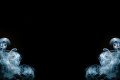 Abstract photo of blue smoke background. Royalty Free Stock Photo