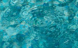 Abstract photo of bubbles in a swimming pool. Blue bubbles in a swimming pool create an interesting blue water background Royalty Free Stock Photo