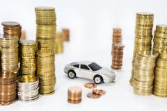 Abstract photo of car price rising. Stock Photos