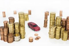 Abstract photo of car price rising. Royalty Free Stock Images