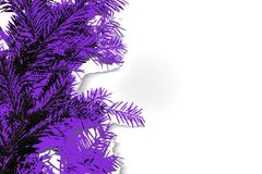 Abstract photo of coniferous branches in proton purple color, vector illustration