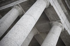 Abstract photo of doric temple columns Royalty Free Stock Image