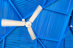 Abstract photo fan on a blue Stock Photography