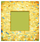 Abstract photo frame. 2D digital art royalty free illustration