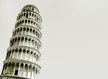 Abstract photo of the leaning tower of Pisa Royalty Free Stock Photo