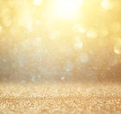 Abstract photo of light burst and glitter bokeh lights. image is blurred and filtered. Royalty Free Stock Photos