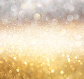 Abstract photo of light burst and glitter bokeh lights. image is blurred and filtered. stock photography