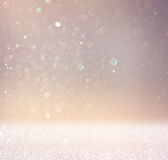 Abstract photo of light burst and glitter bokeh lights. image is blurred and filtered . Stock Photos