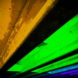 Abstract Photo of Light Show in Downtown Austin stock photography