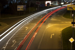 Abstract photo with the light trails Royalty Free Stock Image