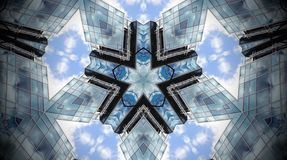 Abstract photo mandala of clouds and reflections. Stock Photography