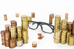 Abstract photo of money searching. Stock Image