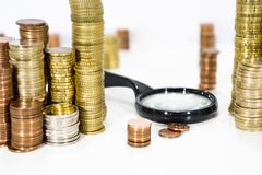 Abstract photo of money searching. Royalty Free Stock Photo