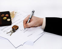 Abstract photo of tax document. Stock Images