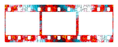 Abstract photographic film. The abstract photographic film on a white background Stock Photo