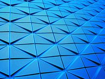 Shapes in blue perspective. Abstract photography of a blue pattern in perspective. Photo taken in Stockholm, Sweden, June 2013 Stock Photography