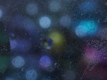 Abstract photography. Multi-colored circles. Drop of oil. Background image stock image