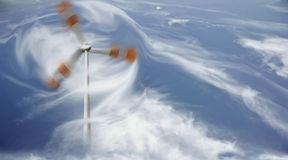 Abstract photography of wind turbine Stock Image