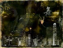 Abstract photomontage background graphic Stock Photos