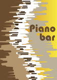 Abstract piano bar poster Royalty Free Stock Images