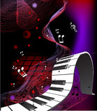 Abstract piano keyboard. In black Stock Photo