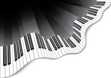 Abstract piano keyboard. Floating piano keyboard in vector format Stock Images