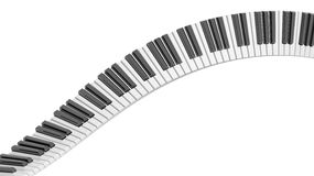 Abstract piano keyboard wave. On white background Stock Photo