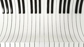 Abstract piano keys background. 3D illustration. Black and white abstract piano keys background. 3D illustration Royalty Free Stock Images