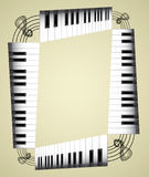 Abstract piano roll. As the staircase - an illustration Royalty Free Stock Image