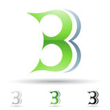 Abstract pictogram voor brief B Royalty-vrije Stock Foto's