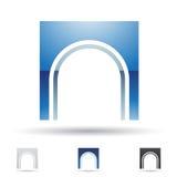 Abstract pictogram voor brief N Stock Afbeeldingen