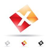 Abstract pictogram voor brief X Stock Foto