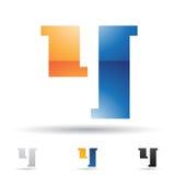 Abstract pictogram voor brief Y Stock Fotografie