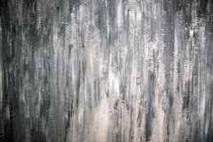 Abstract pictorial art. In dark gray colors made by paints stock photo