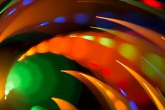 Abstract picture of bright colored dynamic lights royalty free stock photo