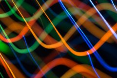 Abstract picture of bright colored dynamic lights royalty free stock photos