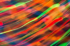 Abstract picture of bright colored dynamic lights stock image