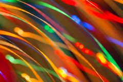 Abstract picture of bright colored dynamic lights stock images