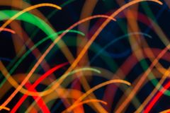 Abstract picture of bright colored dynamic lights royalty free stock images