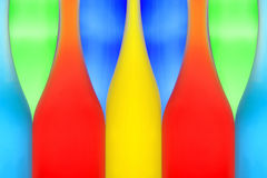 Abstract picture from color bottles. Abstract picture from five color bottles Royalty Free Stock Image