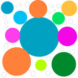 Abstract picture with colored circles. Vecctor Stock Photography