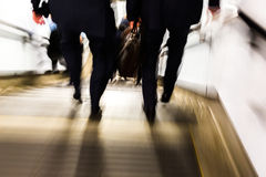 Abstract picture of commuters walking downstairs Stock Photography