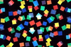 Abstract picture consisting of color rectangles Royalty Free Stock Image