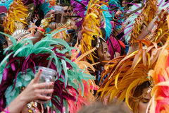 Abstract picture of crowd of people on Karneval der Kulturen C. Berlin, Germany - june 04, 2017: Abstract picture of crowd of people on Karneval der Kulturen royalty free stock photo