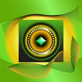 Abstract picture of green jewel Stock Photo