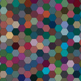 Abstract picture with hexagons of different colors. Raster Stock Image