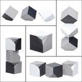 Abstract picture of monochrome cubes Royalty Free Stock Photo
