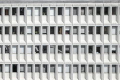 Abstract picture of office building. Mostly windows that are closed opened or shut down with blinds during the middle of hot summer Stock Photography