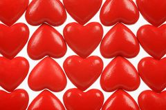 Abstract picture from red hearts Stock Image